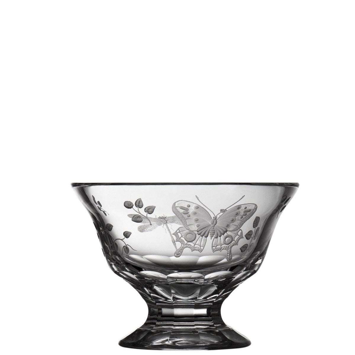 """Springtime Clear Footed Bowl 6"""" - $ 249 / € 218"""