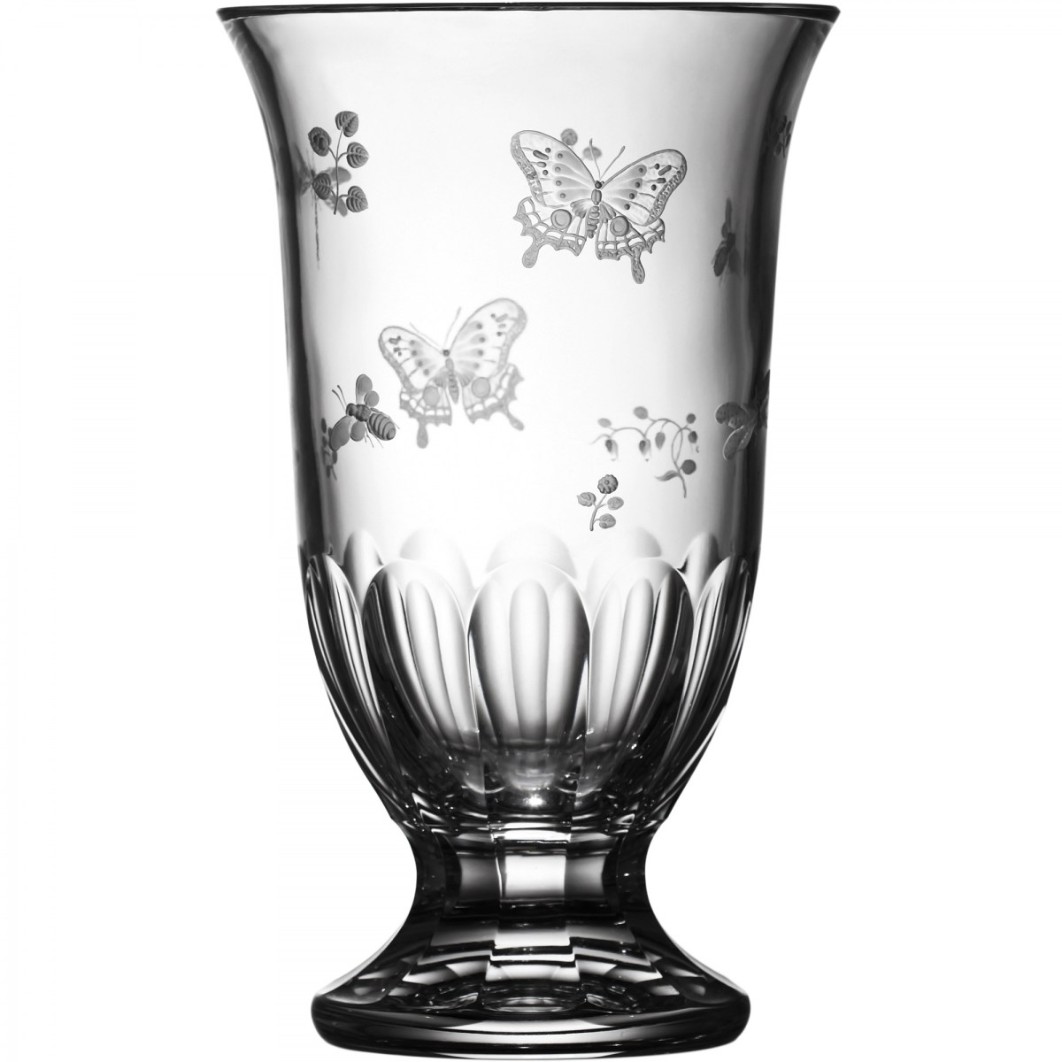 "Springtime Clear Footed Vase 12"" - $ 512 / € 448"