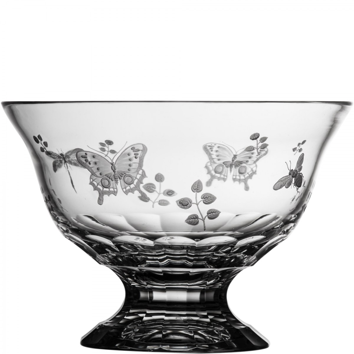"""Springtime Clear Footed Bowl 10"""" - $ 455 / € 398"""