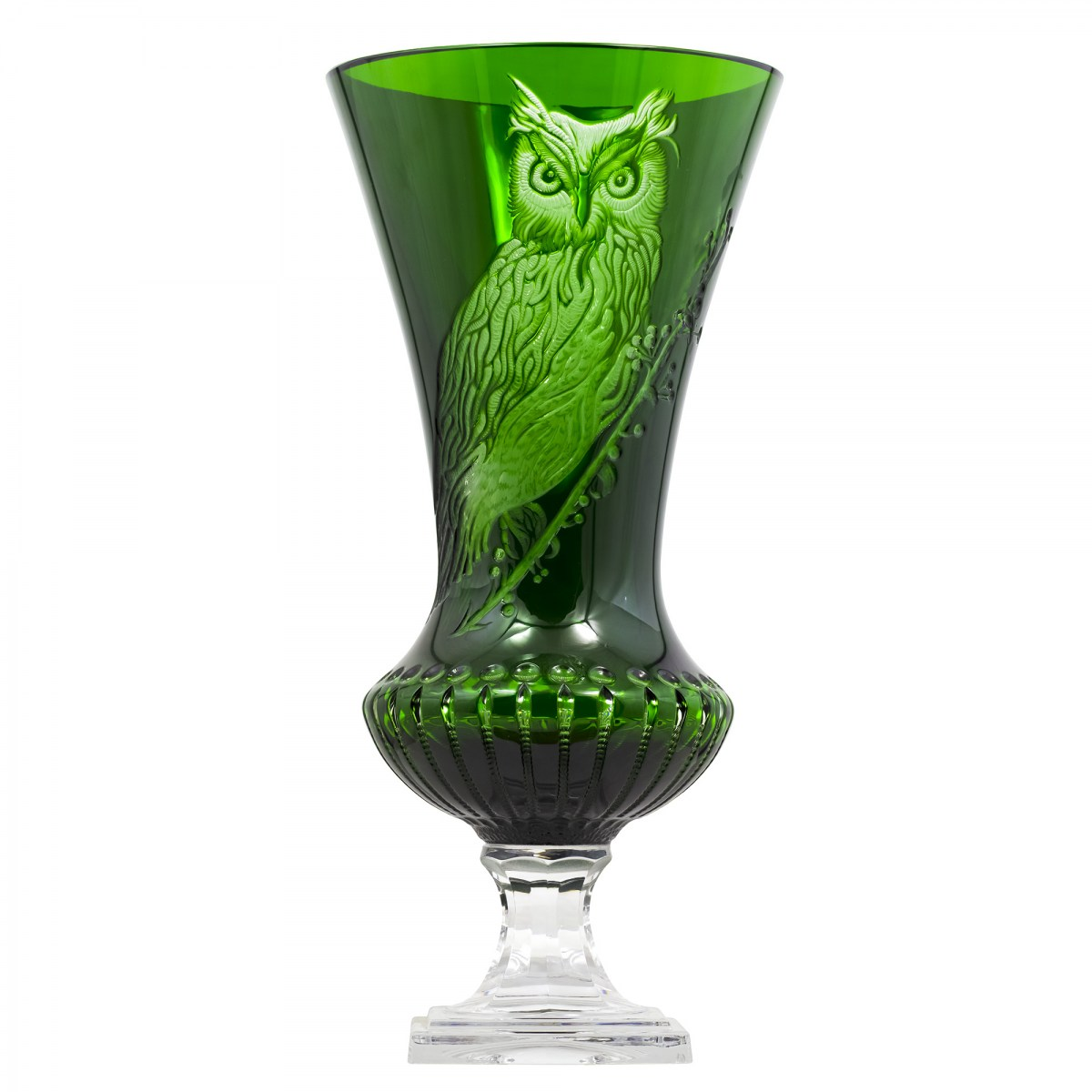 One of a Kind Green OWL Vase - $ 5257 / € 4600